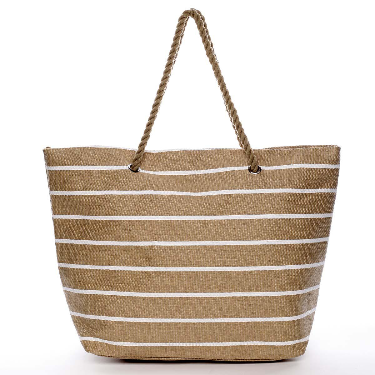 Elegantní plážová taška béžová - Delami Vide