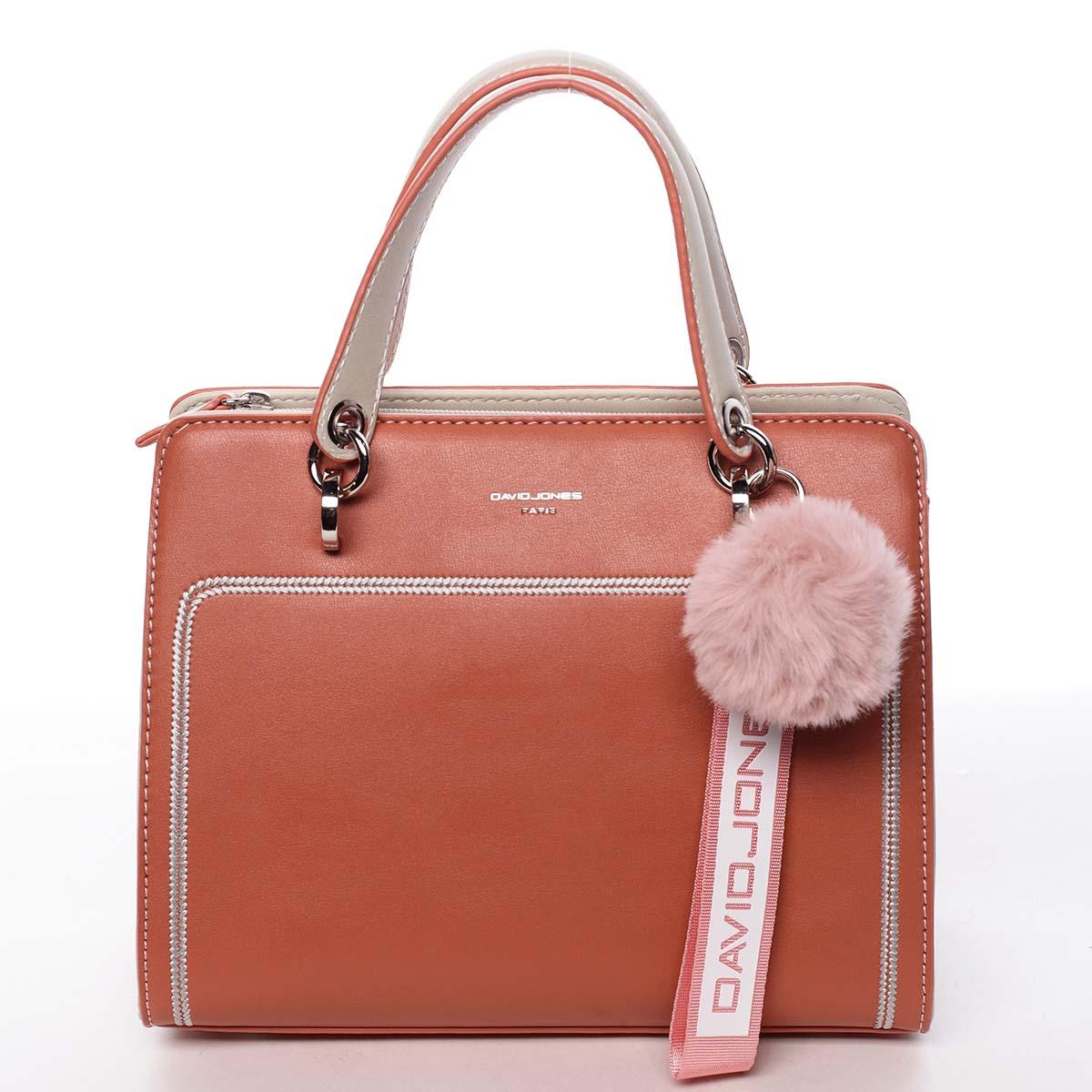 Dámská kabelka do ruky růžově oranžová - David Jones Adalgisa