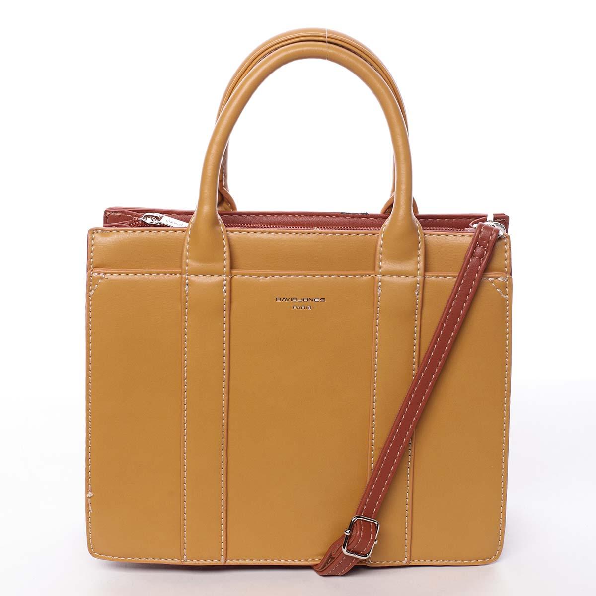Malá dámská kabelka do ruky žlutá - David Jones Akiba