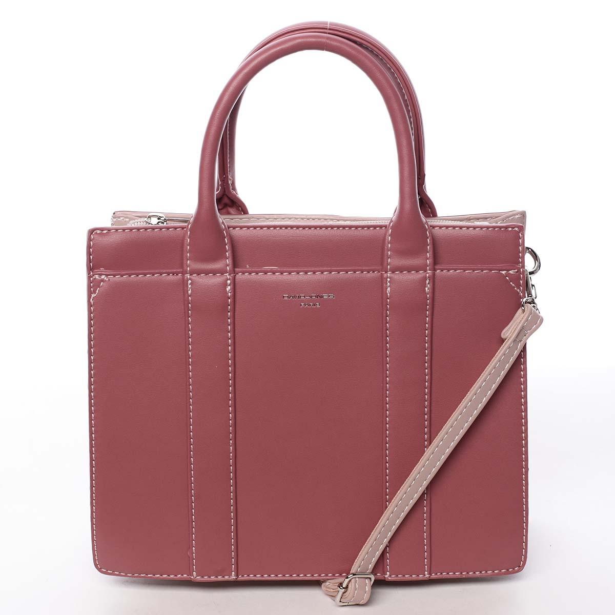 Malá dámská kabelka do ruky tmavě růžová - David Jones Akiba