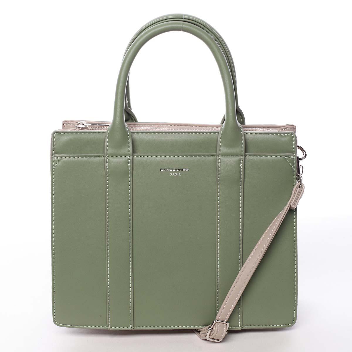 Malá dámská kabelka do ruky zelená - David Jones Akiba