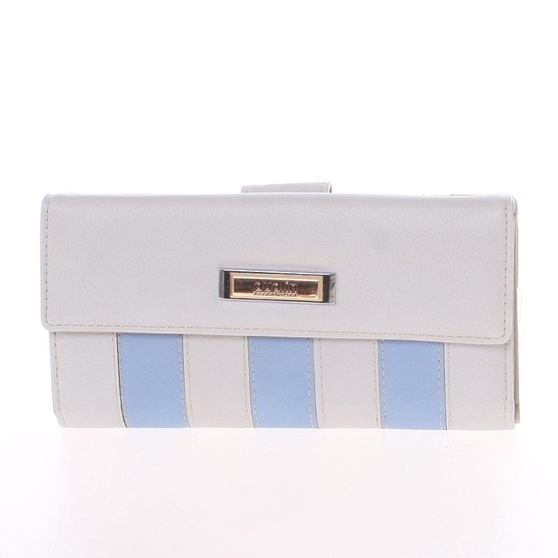 Luxusní velká dámská světle šedá peněženka - Dudlin M377