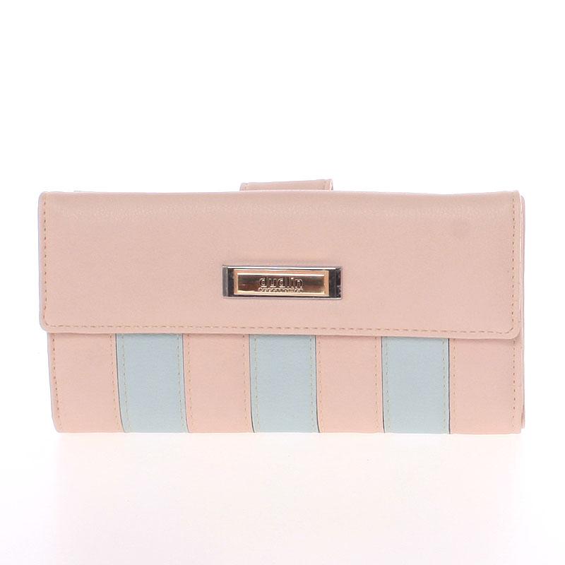 Luxusní velká dámská světle růžová peněženka - Dudlin M377