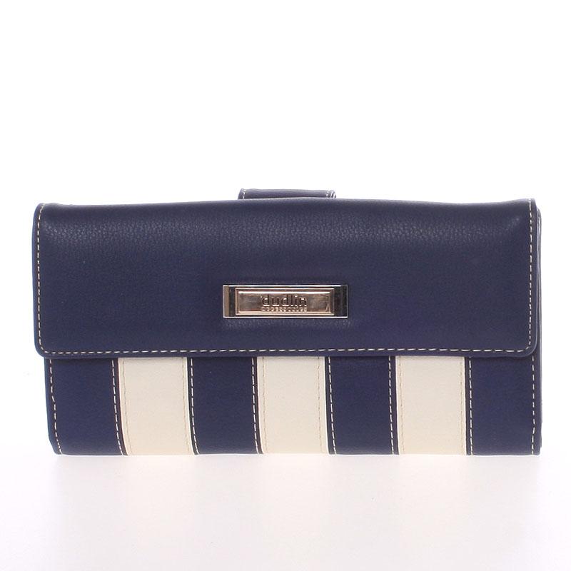 Luxusní velká dámská tmavě modrá peněženka - Dudlin M377