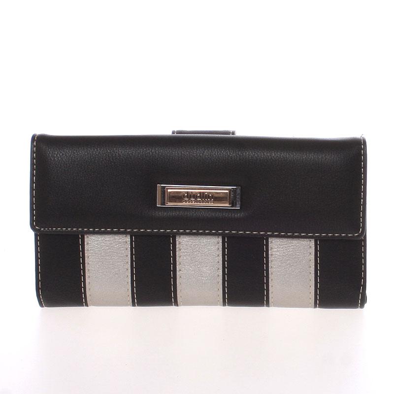 Luxusní velká dámská černá peněženka - Dudlin M377