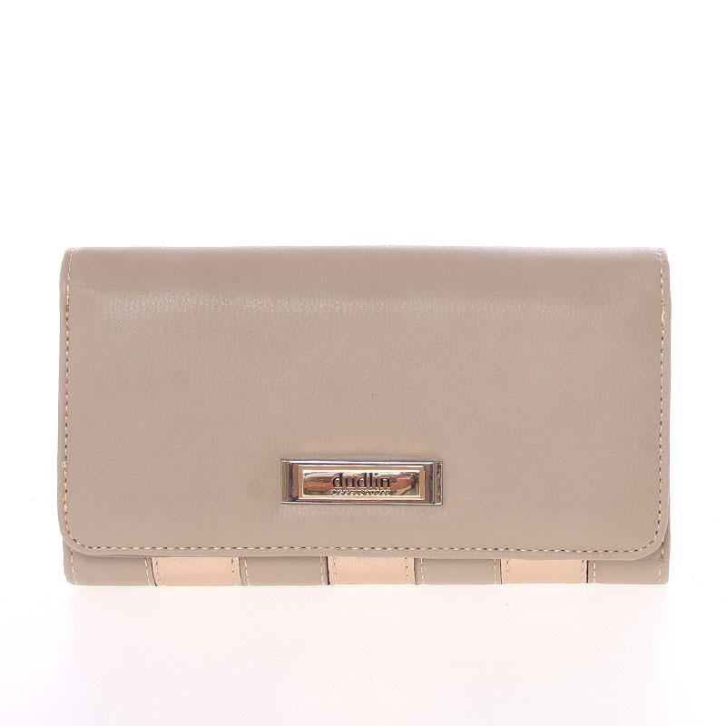 Luxusní dámská taupe peněženka - Dudlin M376
