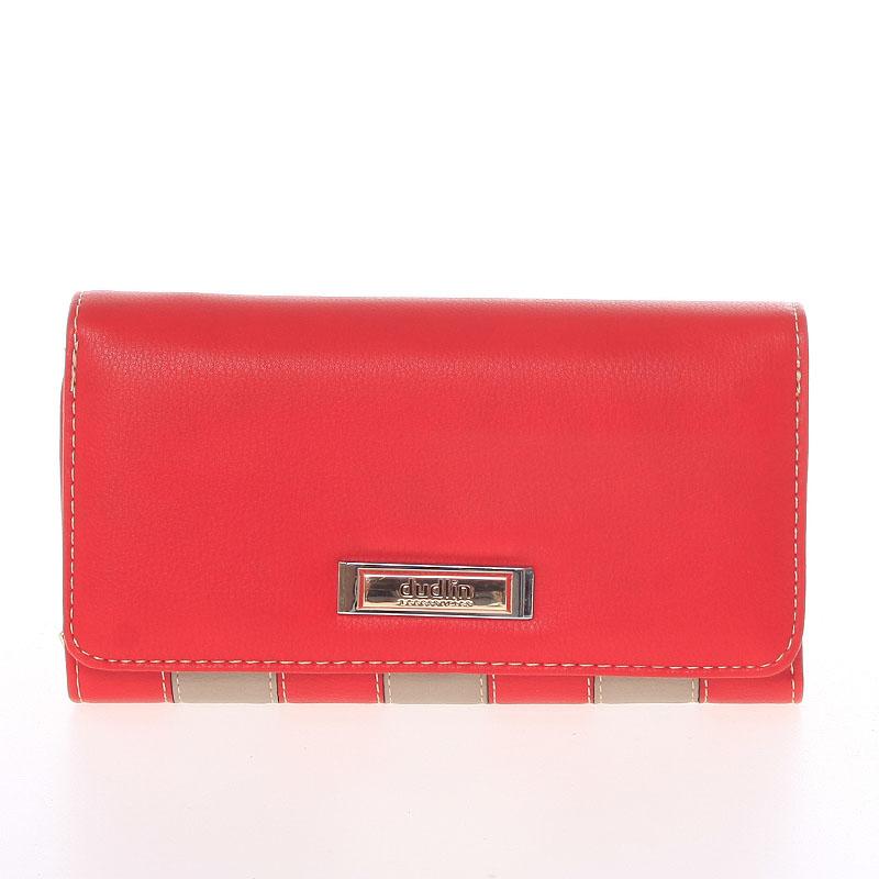 Luxusní dámská červená peněženka - Dudlin M376