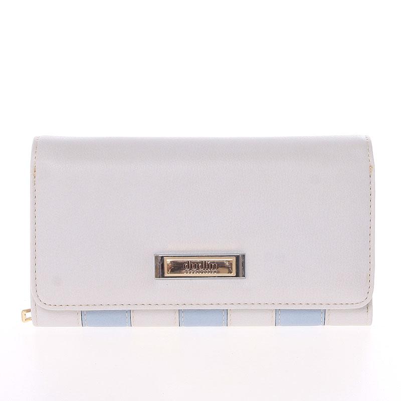 Luxusní dámská světle šedá peněženka - Dudlin M376