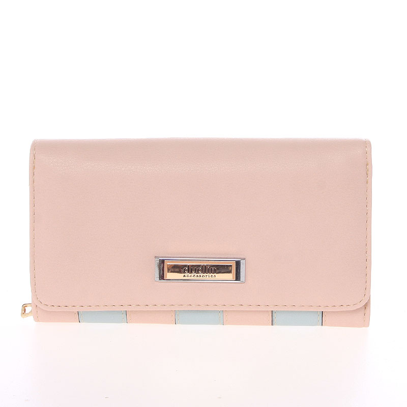 Luxusní dámská světle růžová peněženka - Dudlin M376