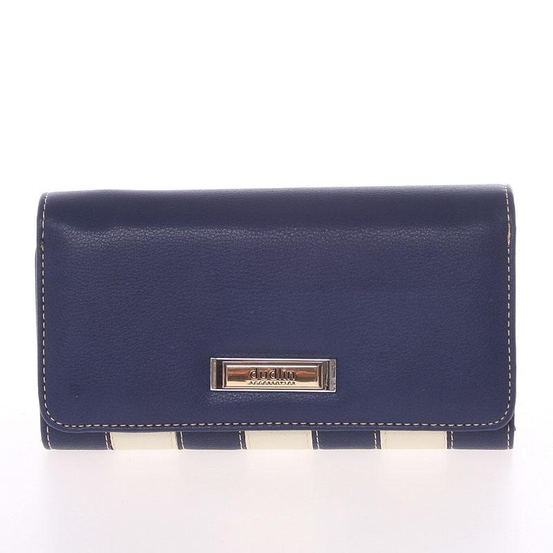 Luxusní dámská tmavě modrá peněženka - Dudlin M376