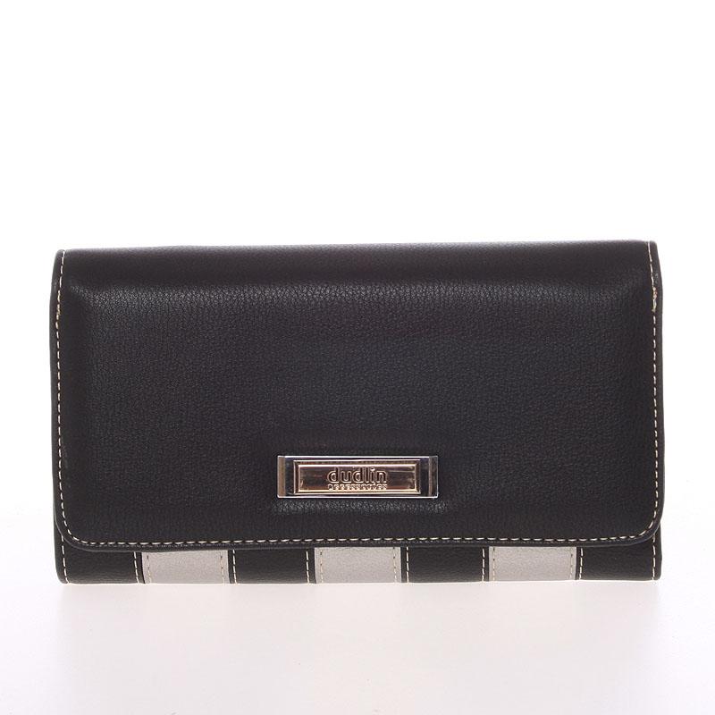 Luxusní dámská černá peněženka - Dudlin M376