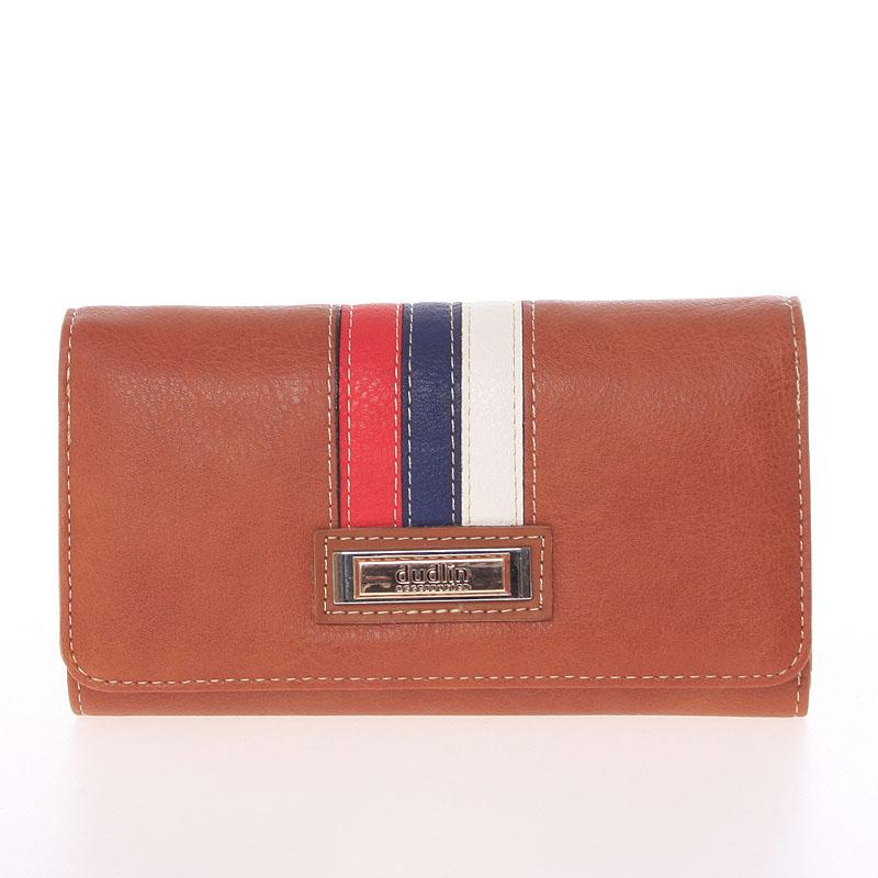 Trendy dámská peněženka hnědá - Dudlin M385