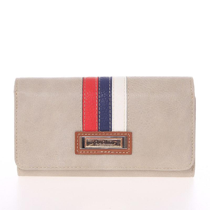 Trendy dámská peněženka světle šedá - Dudlin M385