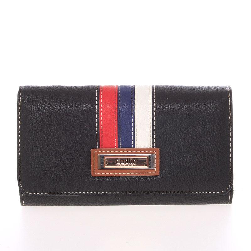 Trendy dámská peněženka černá - Dudlin M385
