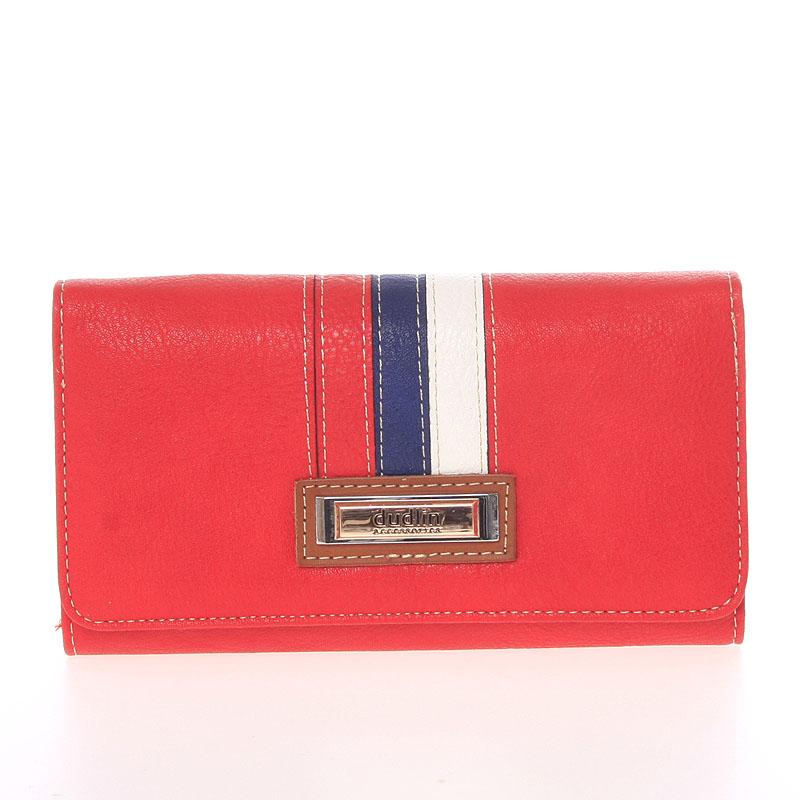 Trendy dámská peněženka červená - Dudlin M385