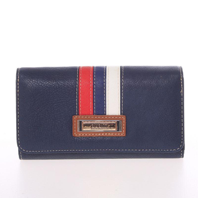 Trendy dámská peněženka tmavě modrá - Dudlin M385