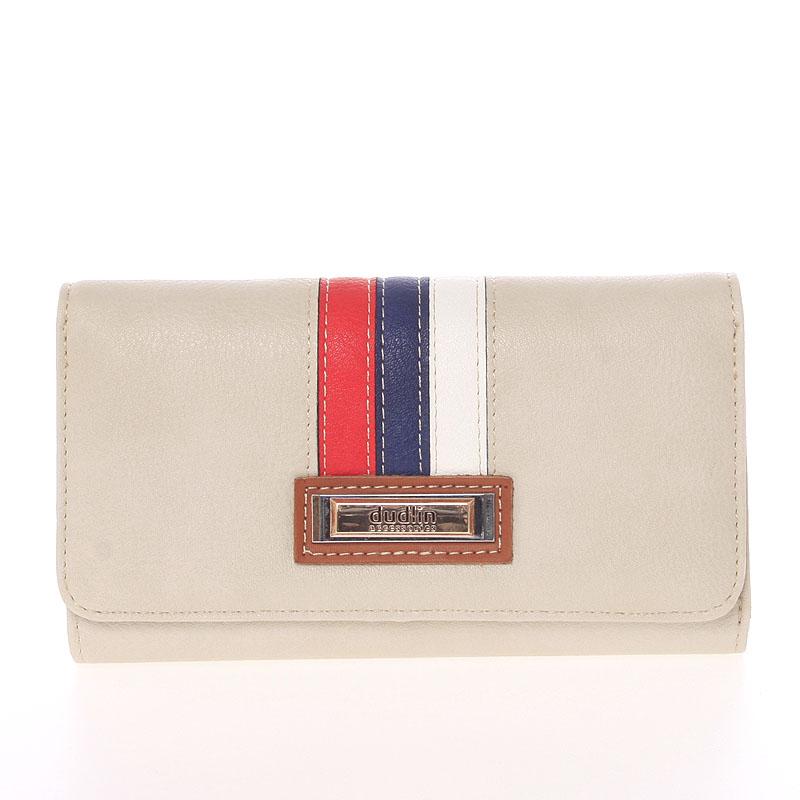 Trendy dámská peněženka béžová - Dudlin M385