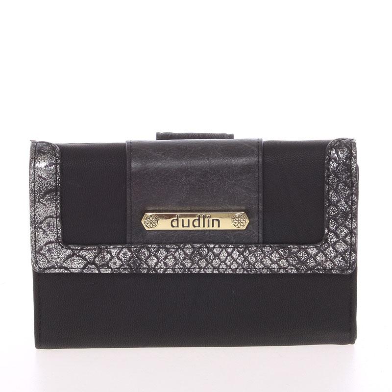 Elegantní dámská peněženka černá - Dudlin M341