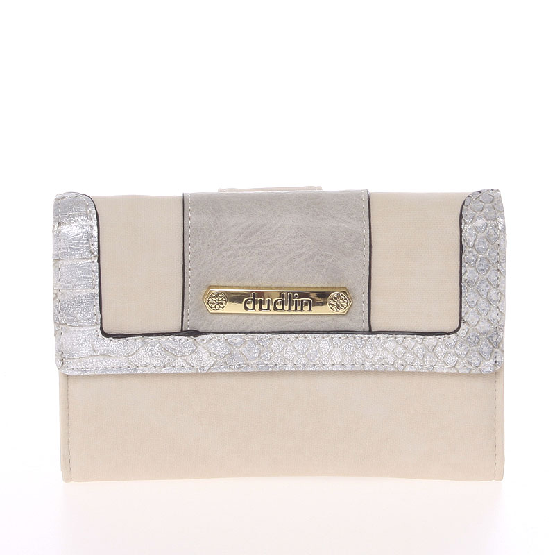 Elegantní dámská peněženka béžová - Dudlin M341