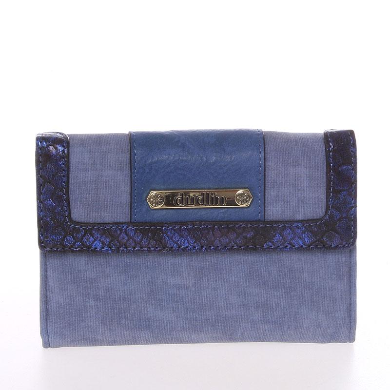 Elegantní dámská peněženka modrá - Dudlin M341