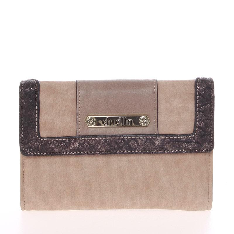 Elegantní dámská peněženka taupe - Dudlin M341
