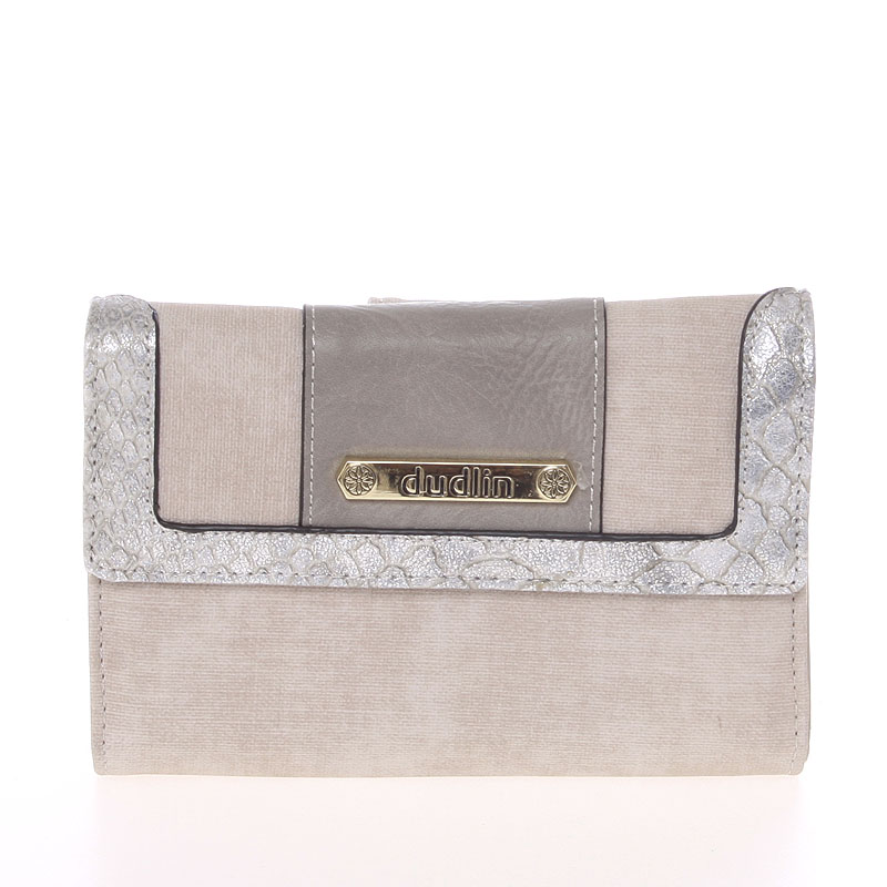 Elegantní dámská peněženka šedá - Dudlin M341
