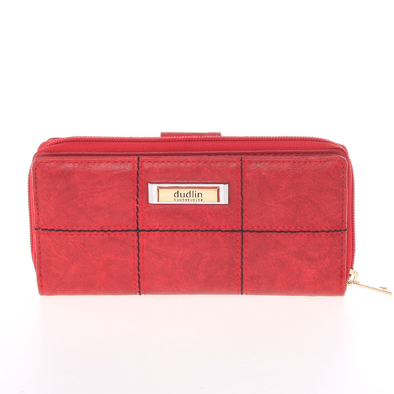 Módní větší dámská peněženka červená - Dudlin M359