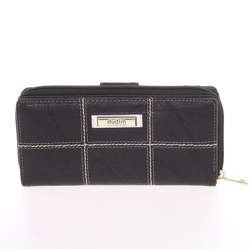 Módní větší dámská peněženka černá - Dudlin M359