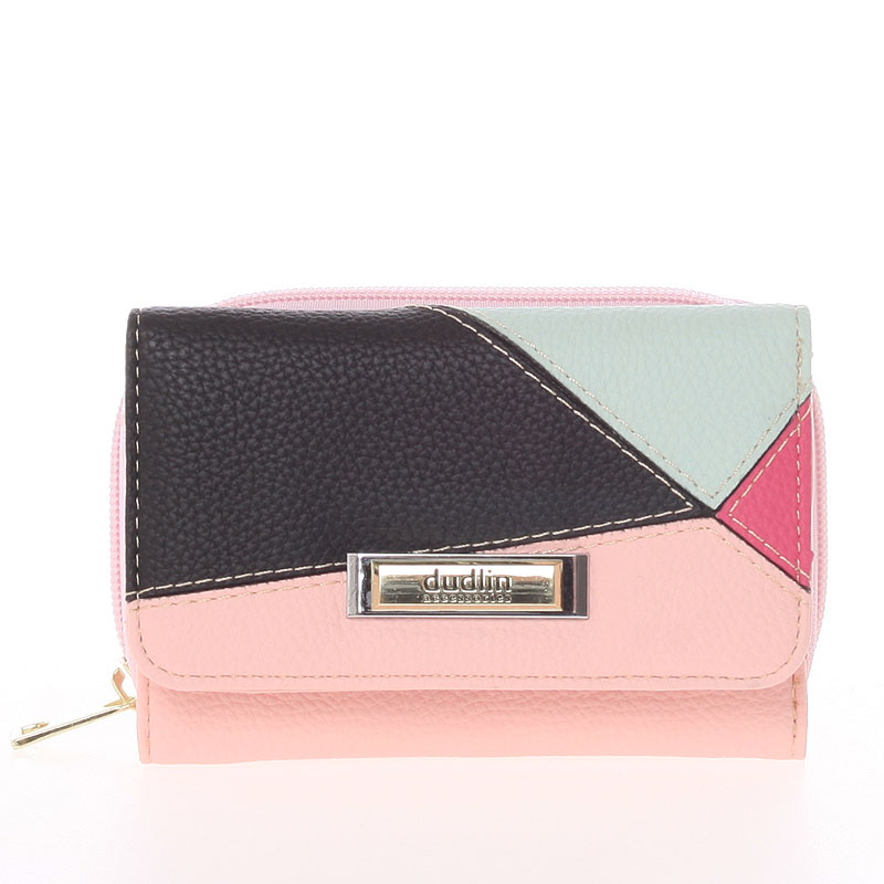 Dámská vzorovaná růžová peněženka - Dudlin M333