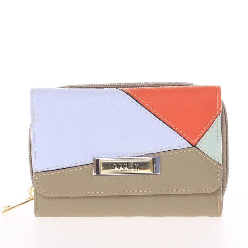Dámská vzorovaná taupe peněženka - Dudlin M333