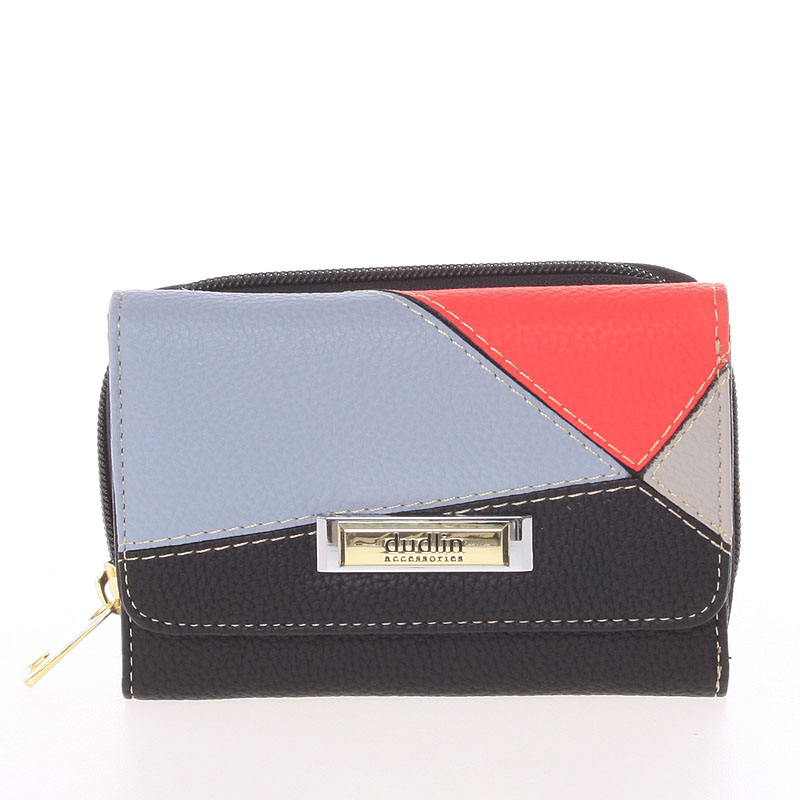 Dámská vzorovaná černá peněženka - Dudlin M333
