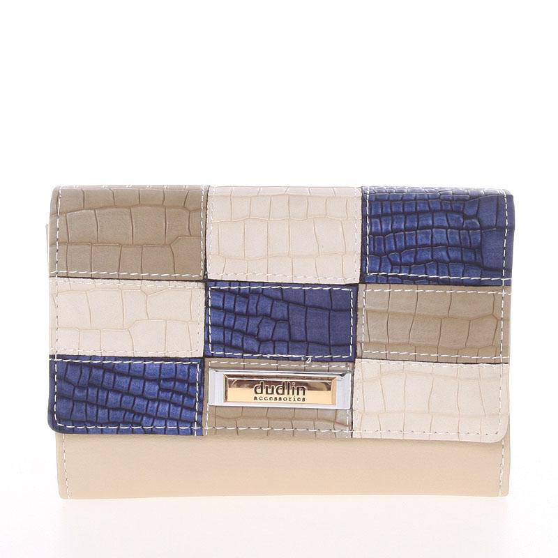 Trendy dámská peněženka béžová - Dudlin M373