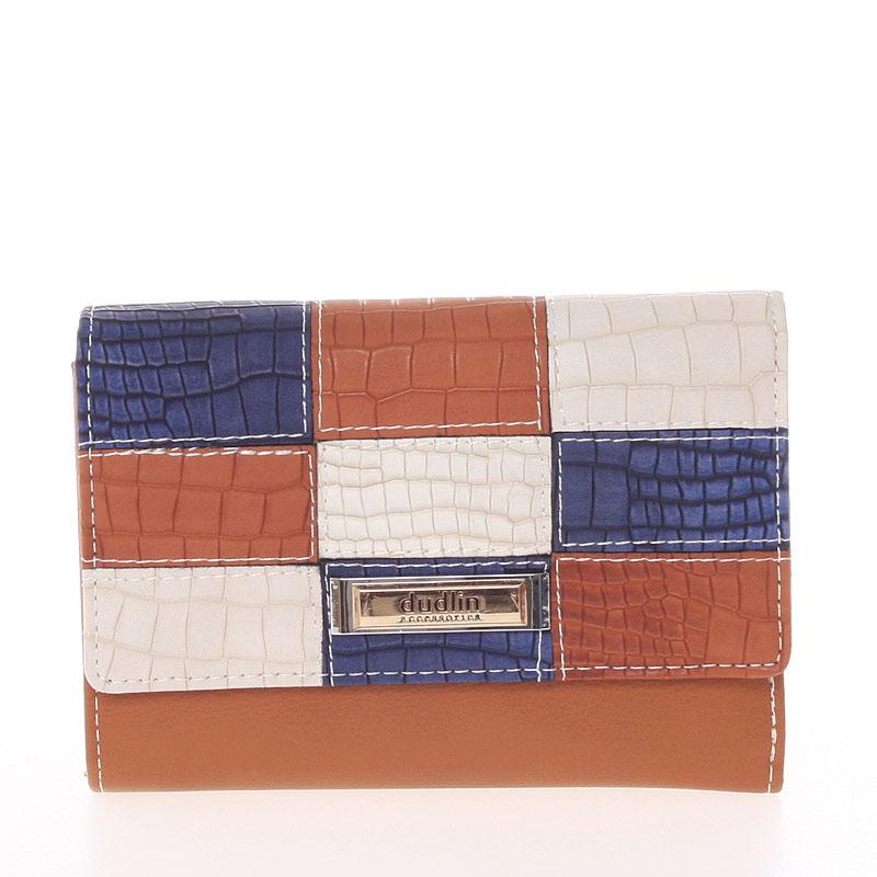 Trendy dámská peněženka hnědá - Dudlin M373