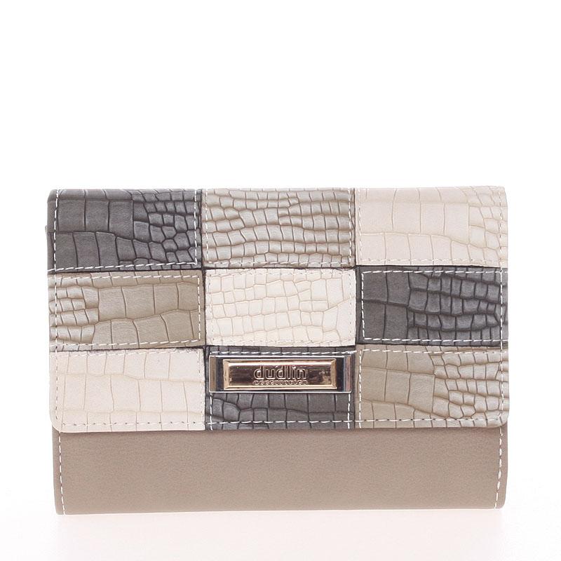 Trendy dámská peněženka taupe - Dudlin M373