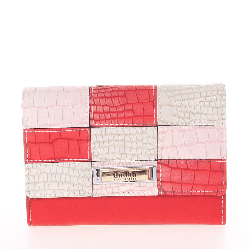 Trendy dámská peněženka červená - Dudlin M373