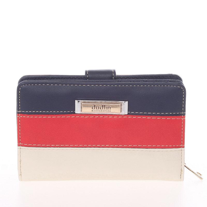 Středně velká dámská modro béžová peněženka - Dudlin M380