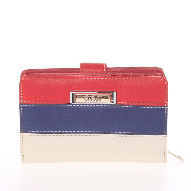 Středně velká dámská červeno béžová peněženka - Dudlin M380