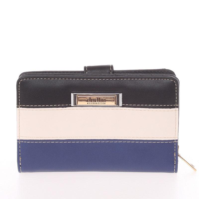 Středně velká dámská černo modrá peněženka - Dudlin M380