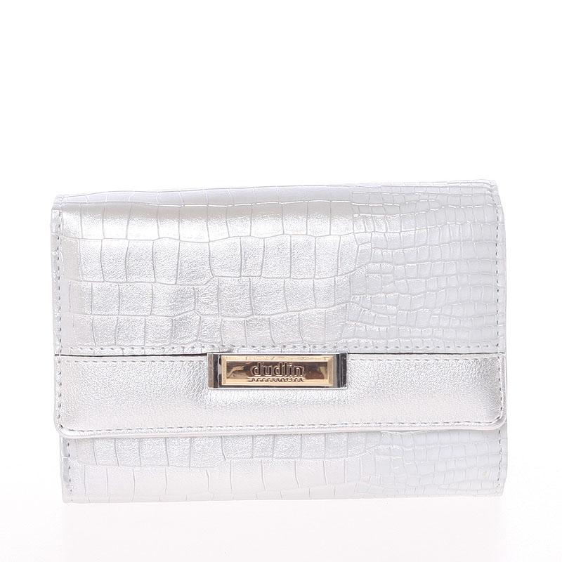 Luxusní středně velká stříbrná dámská peněženka - Dudlin M375