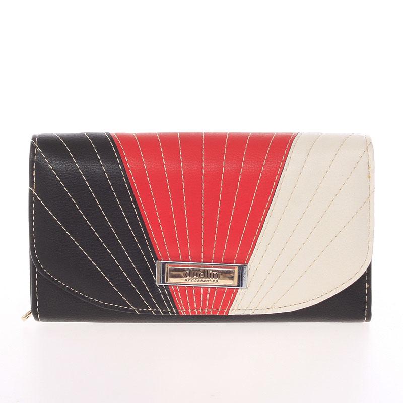 Elegantní velká dámská černá peněženka - Dudlin M368