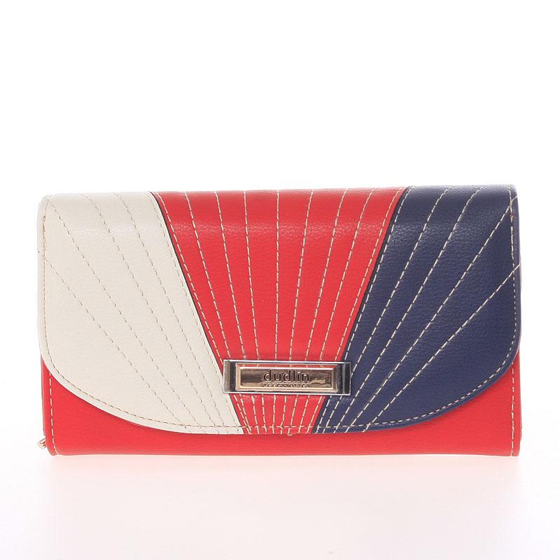 Elegantní velká dámská červená peněženka - Dudlin M368