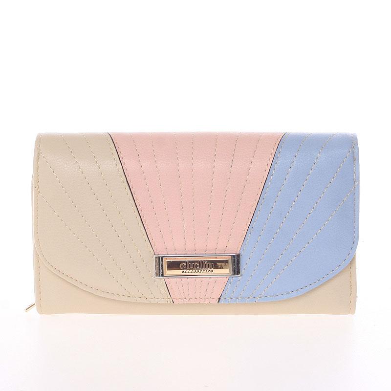 Elegantní velká dámská béžová peněženka - Dudlin M368