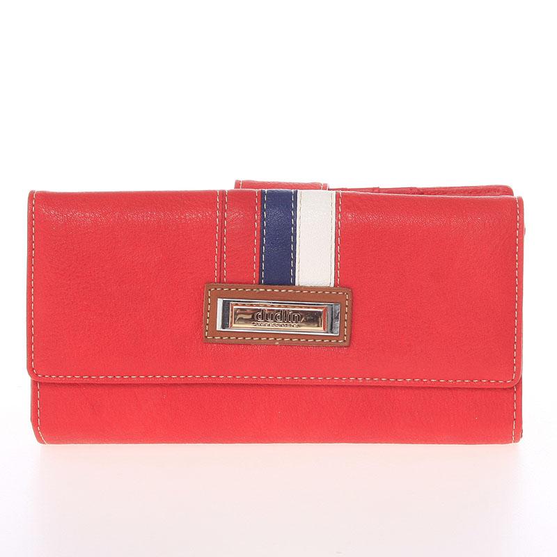Velká elegantní červená peněženka - Dudlin M386