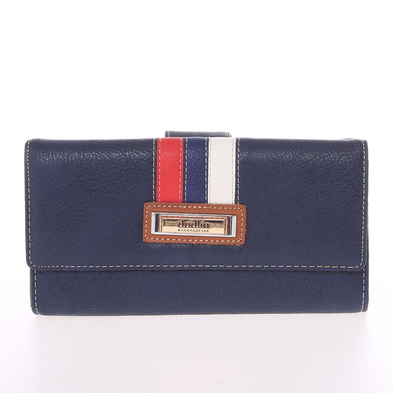 Velká elegantní tmavě modrá peněženka - Dudlin M386