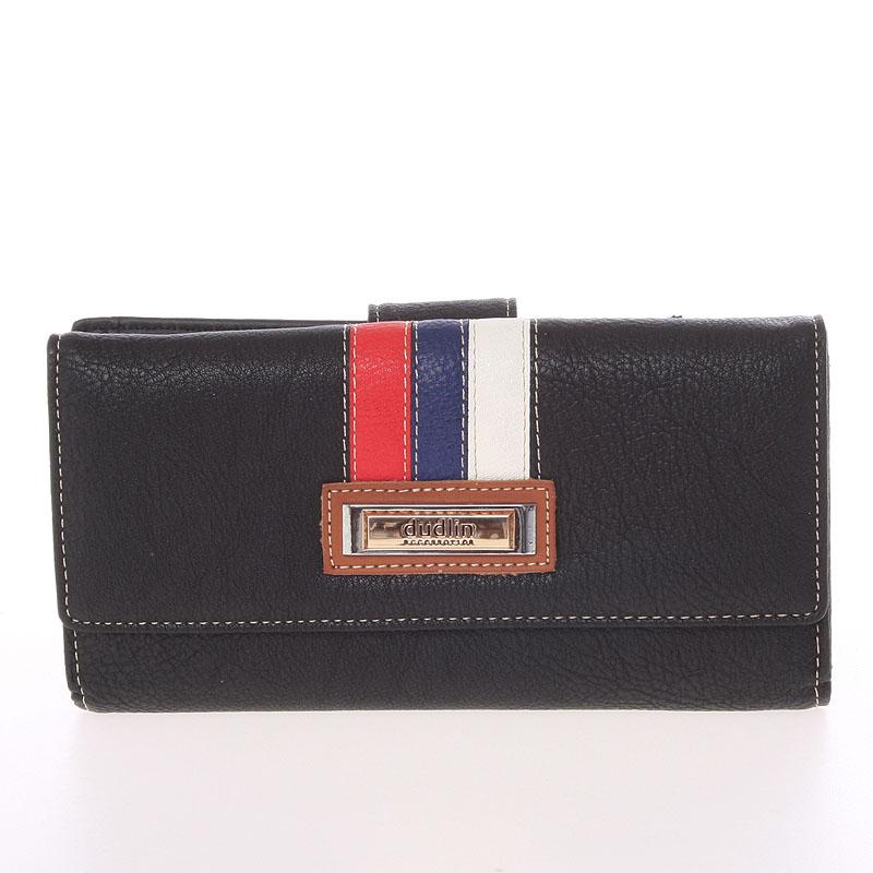 Velká elegantní černá peněženka - Dudlin M386