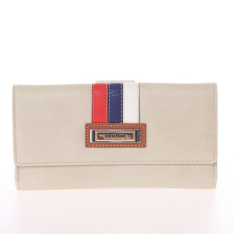 Velká elegantní béžová peněženka - Dudlin M386