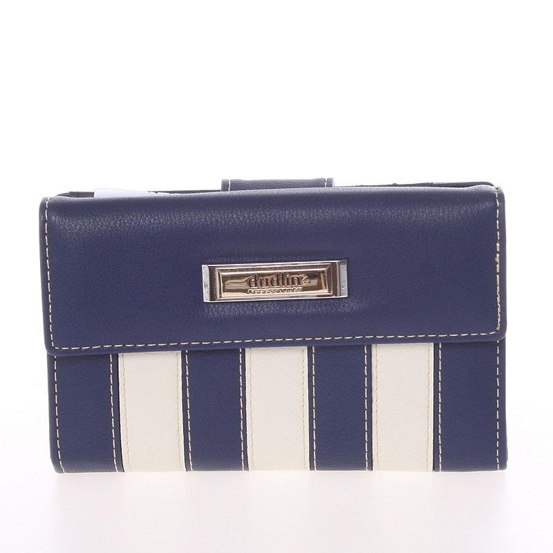 Dámská větší pruhovaná tmavě modrá peněženka - Dudlin M378
