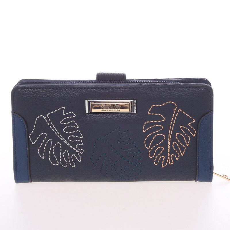 Velká dámská originální tmavě modrá peněženka - Dudlin M354