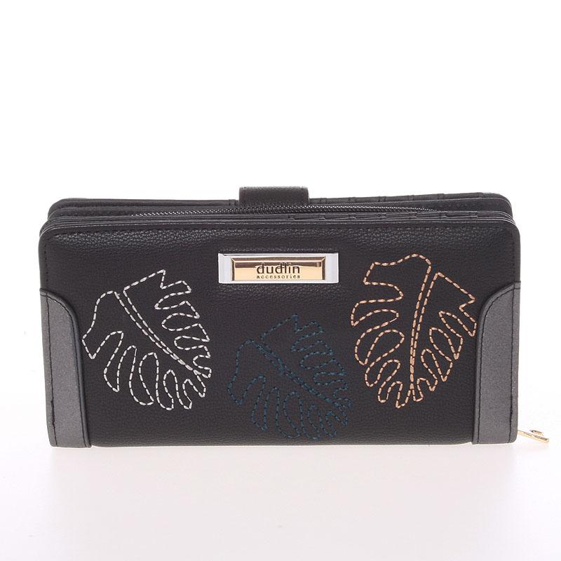 Velká dámská originální černá peněženka - Dudlin M354