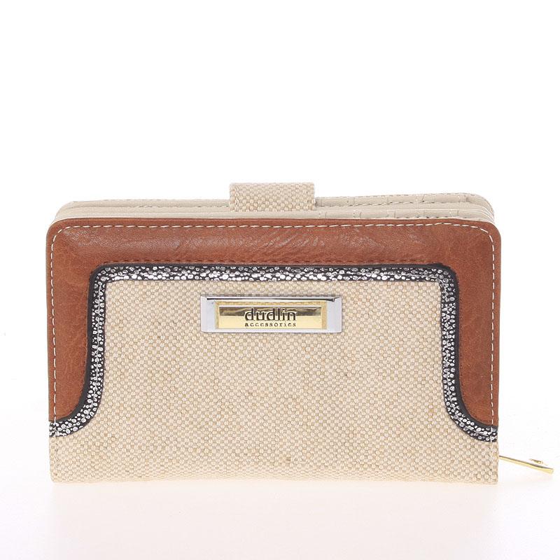 Střední dámská béžová peněženka - Dudlin M330